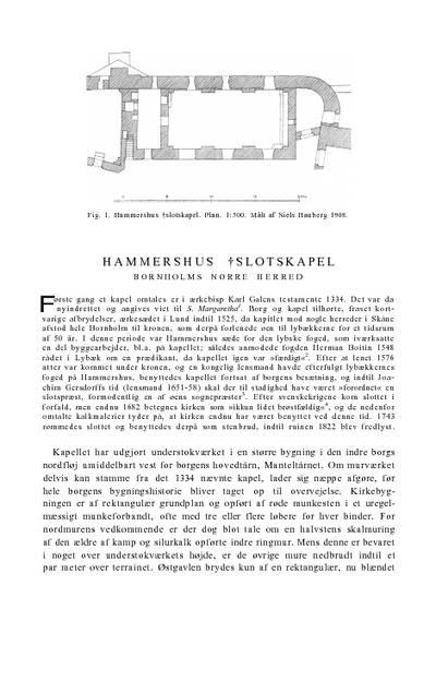 Hammershus †Slotskapel
