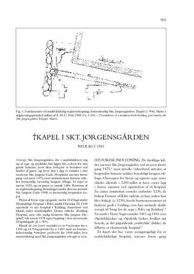 Skt. Jørgensgården, †Kapel i