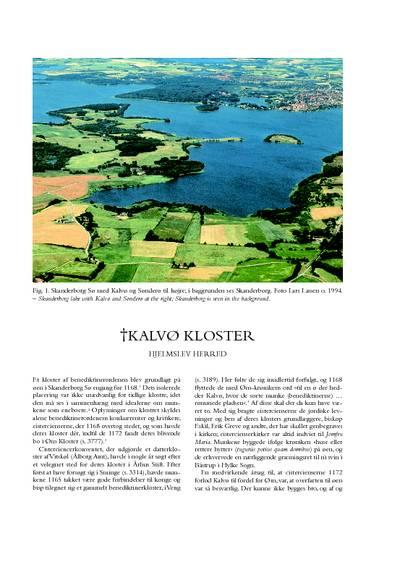 Kalvø †Kloster