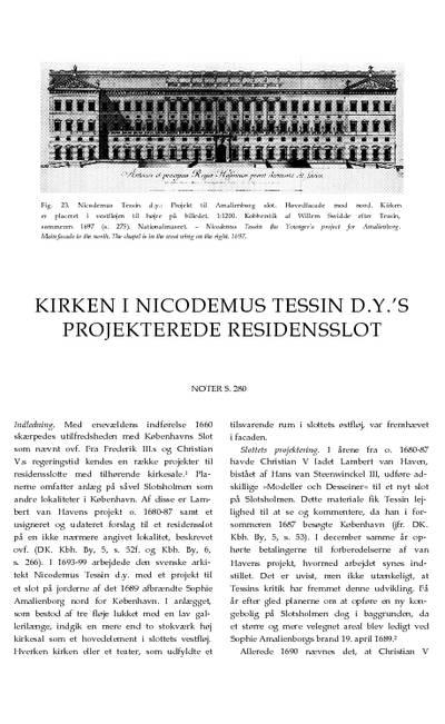 Kirken i Nicodemus Tessin d.y.s projekterede residensslot