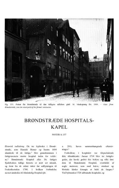 Brøndstræde Hospitalskapel