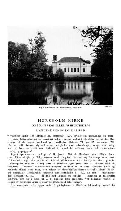 Slotskapeller på Hirschholm