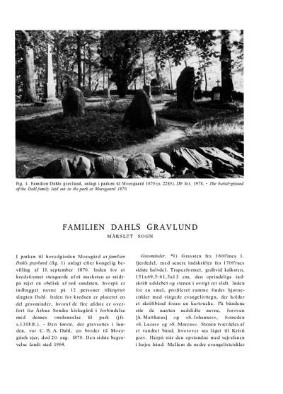 Familien Dahls gravlund ved Moesgaard