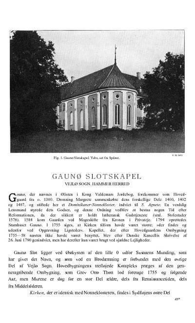 Gaunø Slotskapel