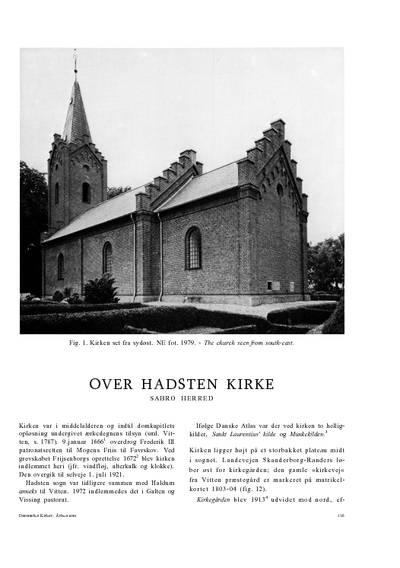 Over Hadsten Kirke