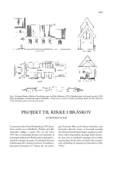 Bråskov Kirke, projekt til