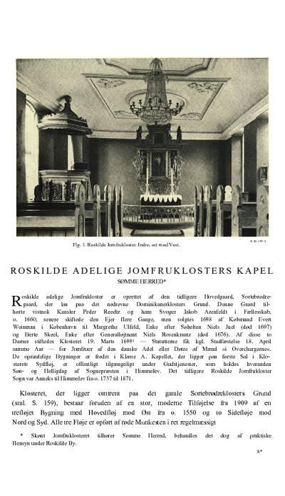Roskilde Adelige Jomfruklosters kapel