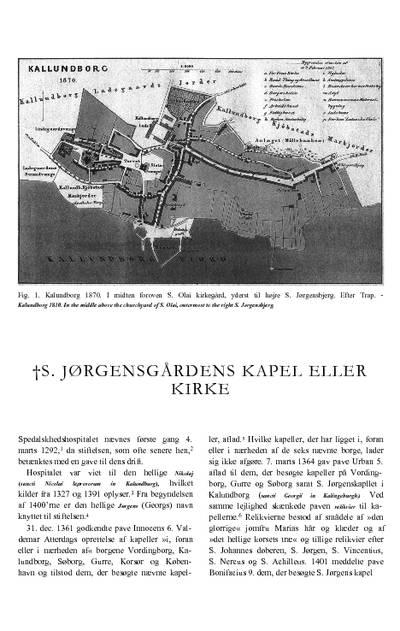 Skt. Jørgensgårdens †kapel eller †kirke