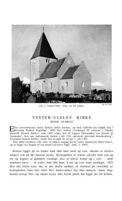 Vester Ulslev Kirke