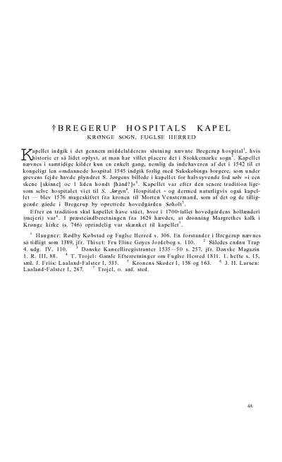 Bregerup Hospitals †kapel