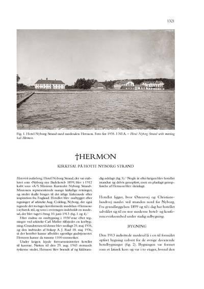 †Hermon, Kirkesal på Hotel Nyborg Strand, Nyborg