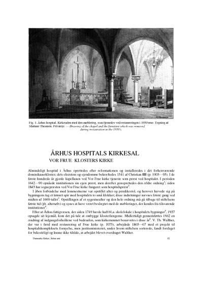 Århus Hospitals kirkesal
