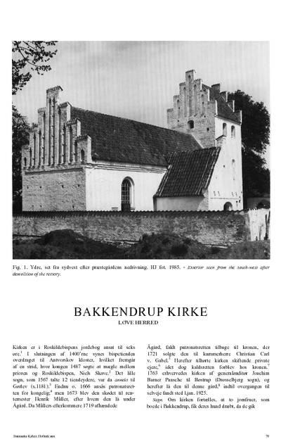 Bakkendrup Kirke
